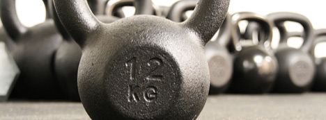 Kettlebell training with cast iron kettlebells for crossfit and cross-training