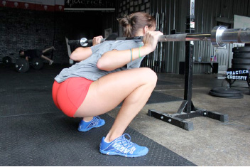 Barbell Squat Leaning Forward