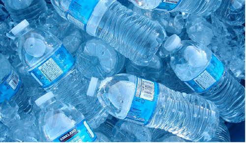 Water intake for staying hydrated when exercising.