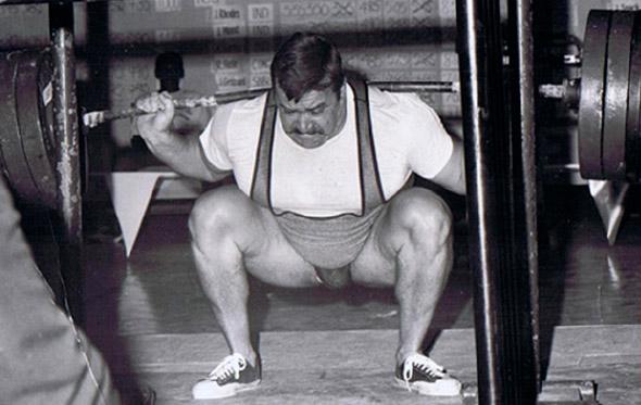 Hugh Cassidy world record powerlifter barbell squat