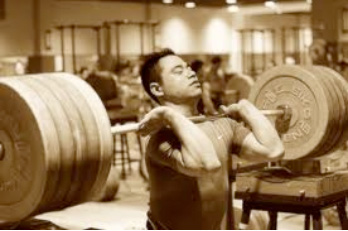 Front Barbell Squat with Conventional Grip