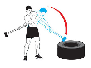 Total Body Strength and Conditioning with Sledgehammer Workouts