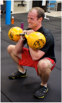Deep Double Kettlebell Squat with Upright Torso