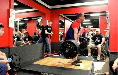 IRON COMPANY athlete Marty Gallagher barbell deadlifts over 500 lbs. and has a bulletproof core at almost 70 years old.