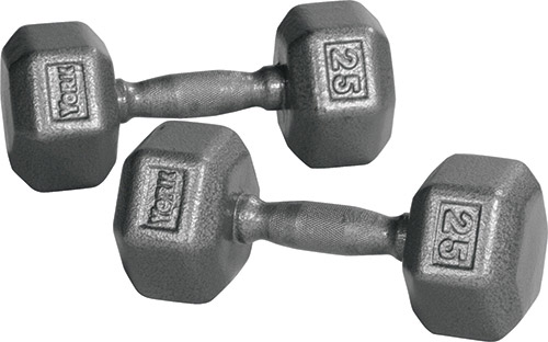 York Barbell cast iron hex dumbbells are affordable, cheap and are an excellent exercise tool for home and garage gyms.