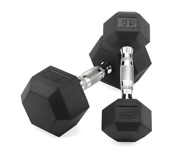 IRON COMPANY Rubber Hex Dumbbells and Sets for Dumbbell Training Workouts