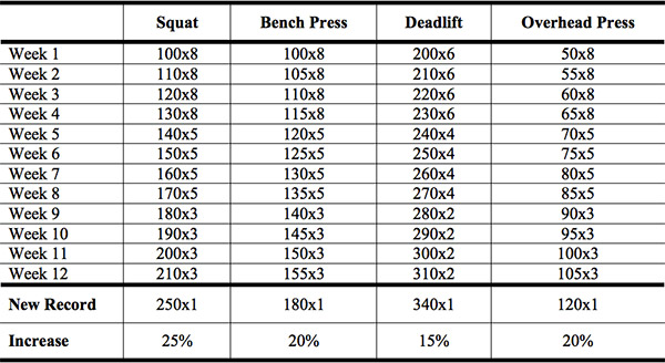 Marty Gallagher RAW Linear Template Chart