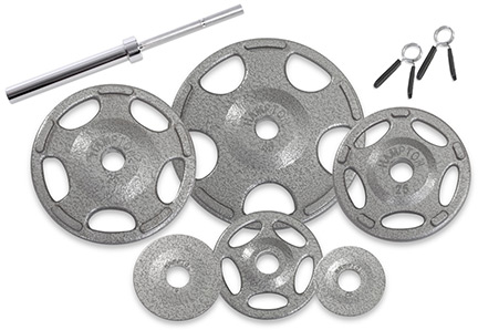 Olympic Barbell Plates with Gripping Handles