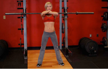 Front Barbell Squat Using Proper Form and Technique