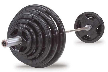 Olympic Weight Set with Rubber Grip Plates