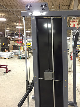 Counterbalanced Smith Machine Assembly for Commercial Grade Smith Machine