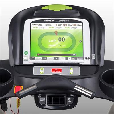 Touch screen treadmill console