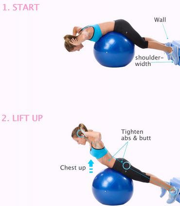 stability ball back extension