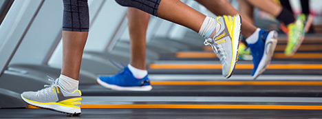 Walking and running on a treadmill for a healthier more fit body