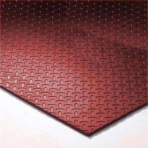 Virgin rubber gym flooring with solid colors and different patterns like diamond plate and pebble grain finish