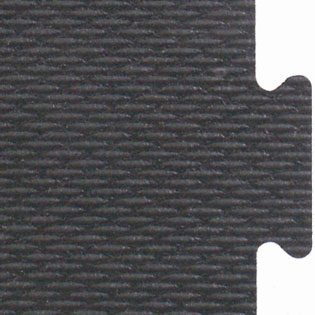 Interlocking rubber flooring tiles made from recycled vulcanized rubber that is Made in the USA