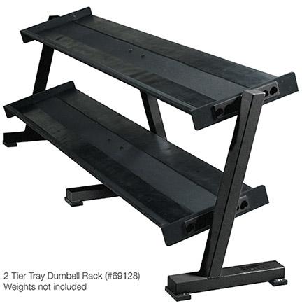 York Barbell 69128 Two Tier Dumbbell Shelf Rack for Hex Dumbbells