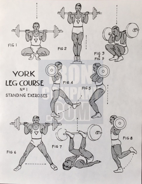 York Barbell System of Training Leg Course 1