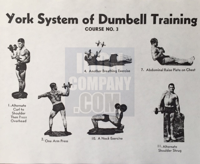 York Barbell System of Training Course 3 Dumbbell Training