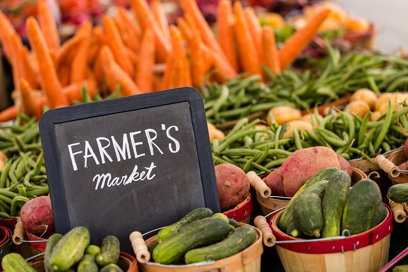 Farmers Market for fresh vegetables and meats