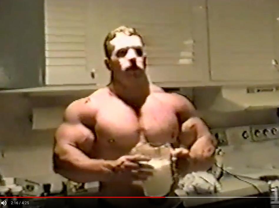 Kirk Karwoski At His Incredibly Muscular Peak - Beach Video 1994