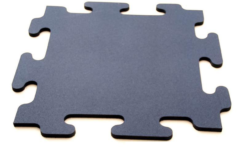 Ultimate RB Rubber Mega-Lock Gym Flooring Tiles