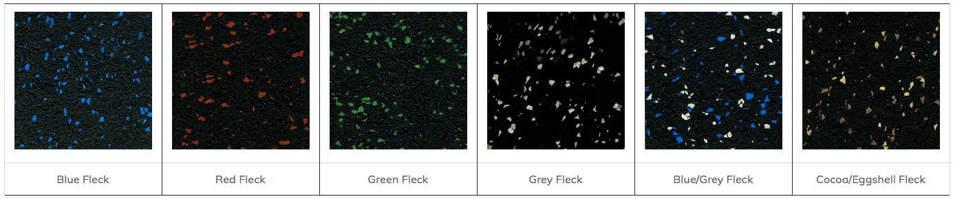 Ultimate RB Rubber Fleck-Lock Gym Flooring Tile Color Choices