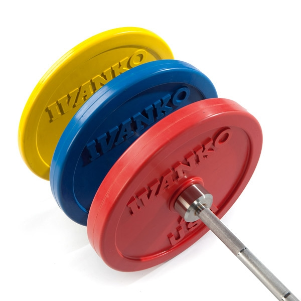 Ivanko Barbell Rubber Bumper Plates for Commercial Gym Use