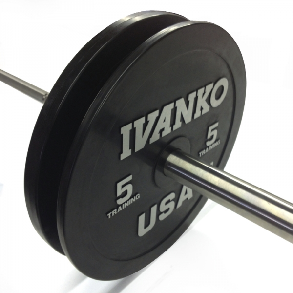Ivanko Barbell OBP Olympic Bumper Plate Set