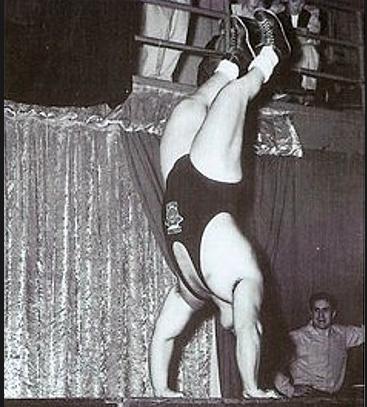 Powerlifter Doug Hepburn Performs a Handstand