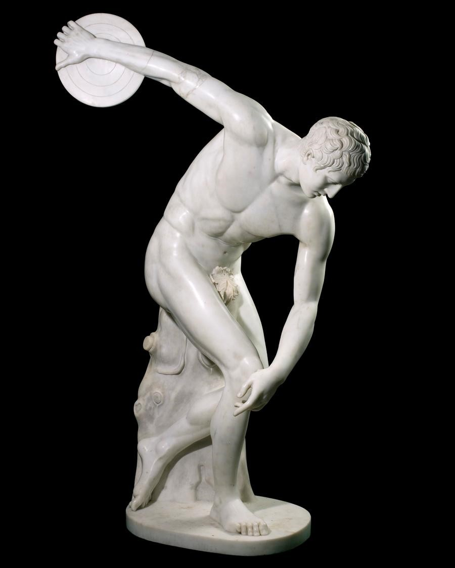 Discus thrower, 775 BC: This man would stand 6'6, weigh 285 with a 9% body fat percentile