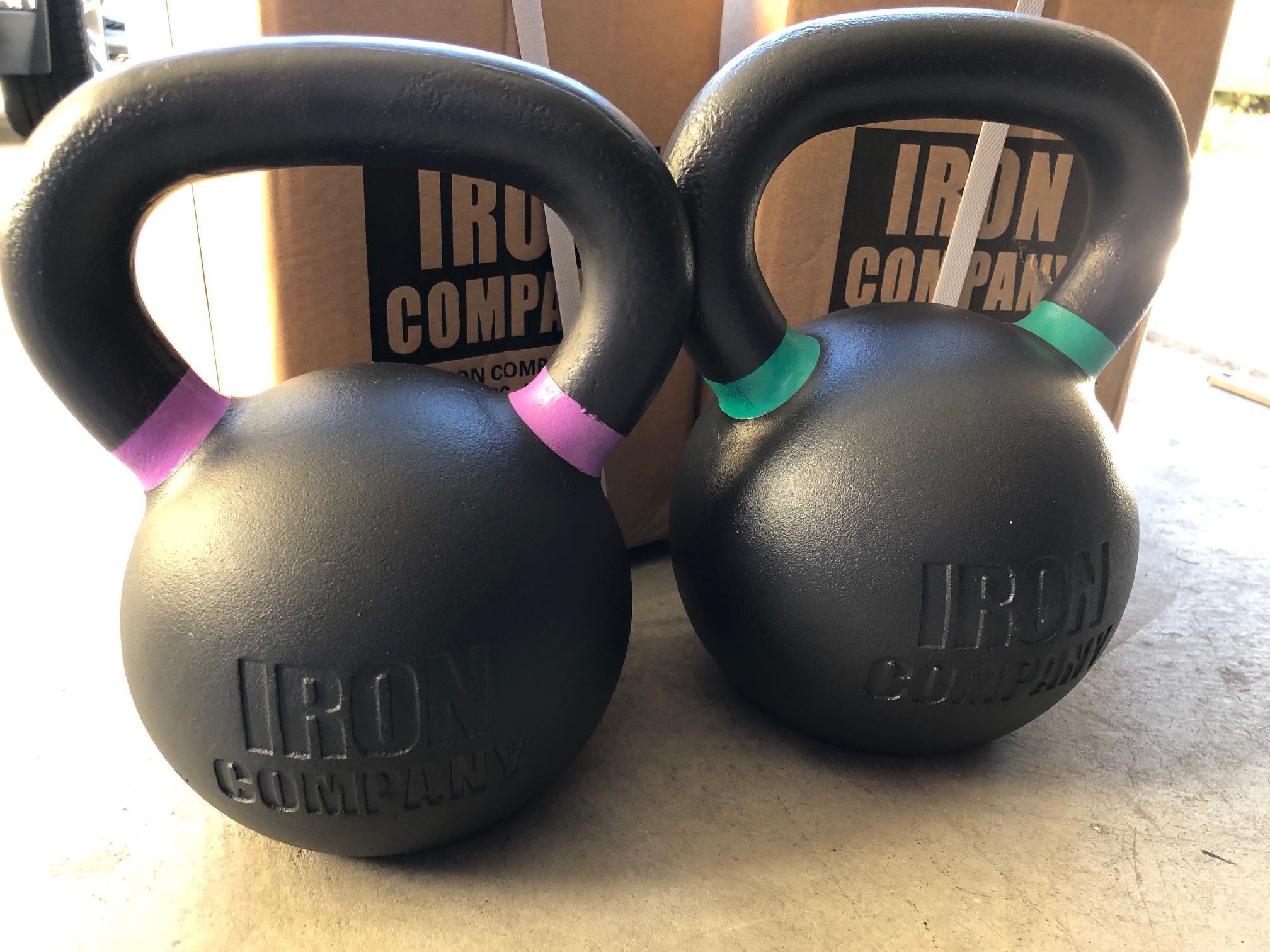 IRON COMPANY Powder Coated Kettlebells