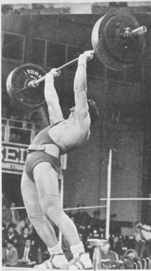 David Rigert 198 pound overhead barbell press record