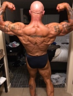 Coach Jim Steel ready for the 2019 NPC bodybuilding show, masters division.