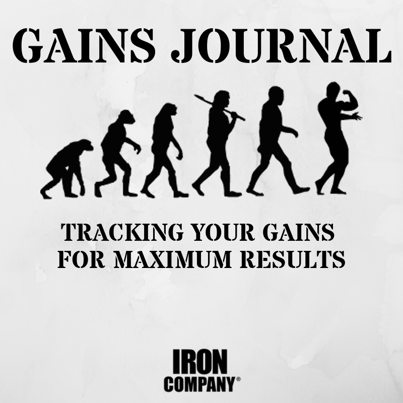 Gains Journal for keeping track of strength and muscle gains for maximum resistance training results.