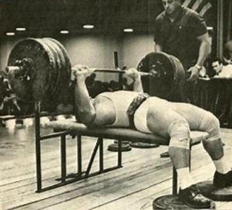 Mel Hennessey world record barbell bench presser
