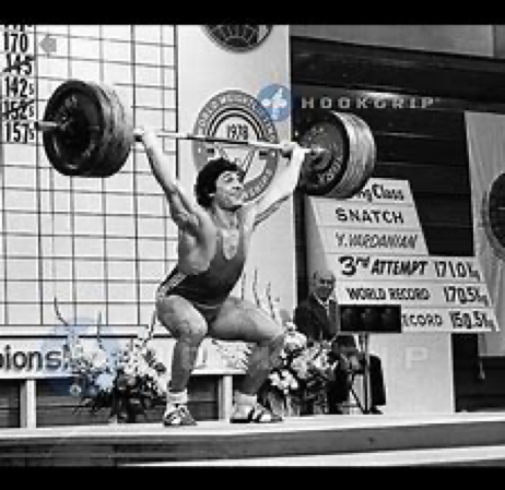 Effortlessly snatching a world record 376 lbs., exceeding his own world record: Yurik Vardanyan eventually snatched 402 weighting 180.
