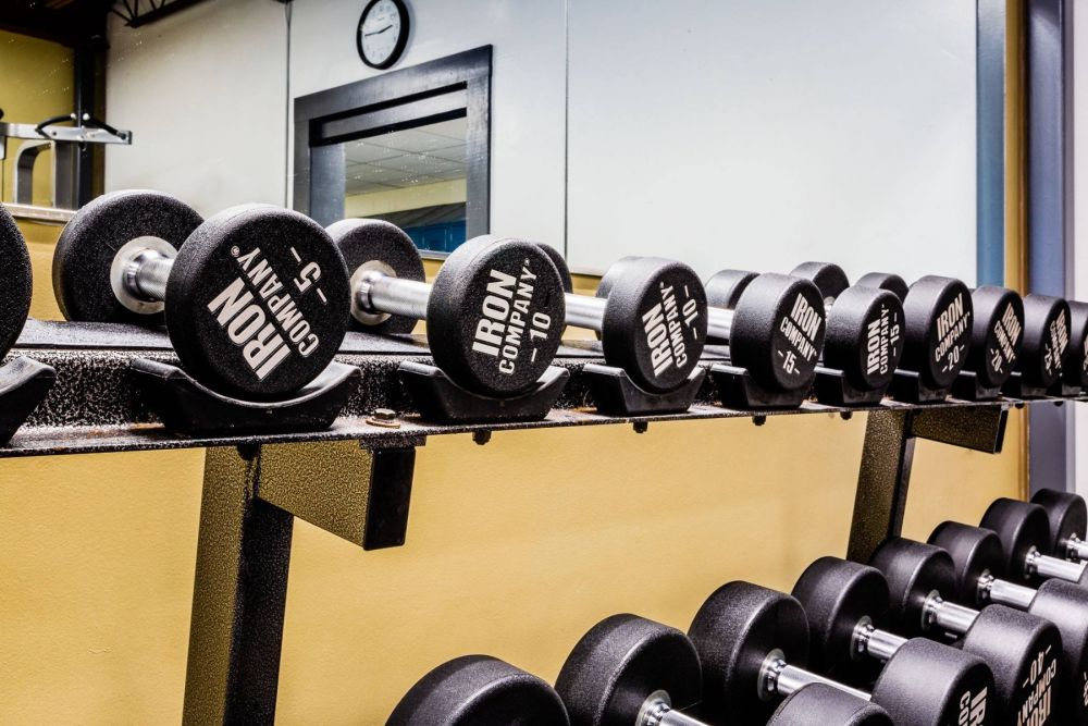 IRON COMPANY urethane dumbbells for the ultimate in dumbbell training.