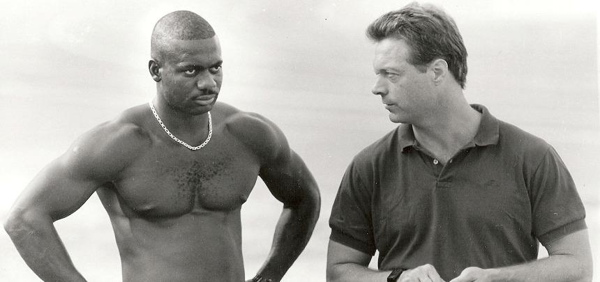 Sprinter Ben Johnson and Coach Charlie Francis