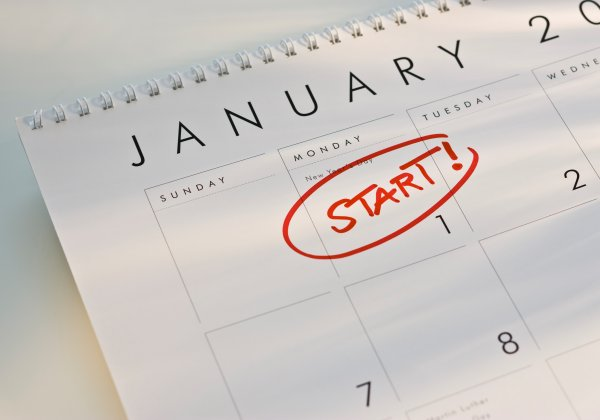 New Year's Resolution for exercising and dieting