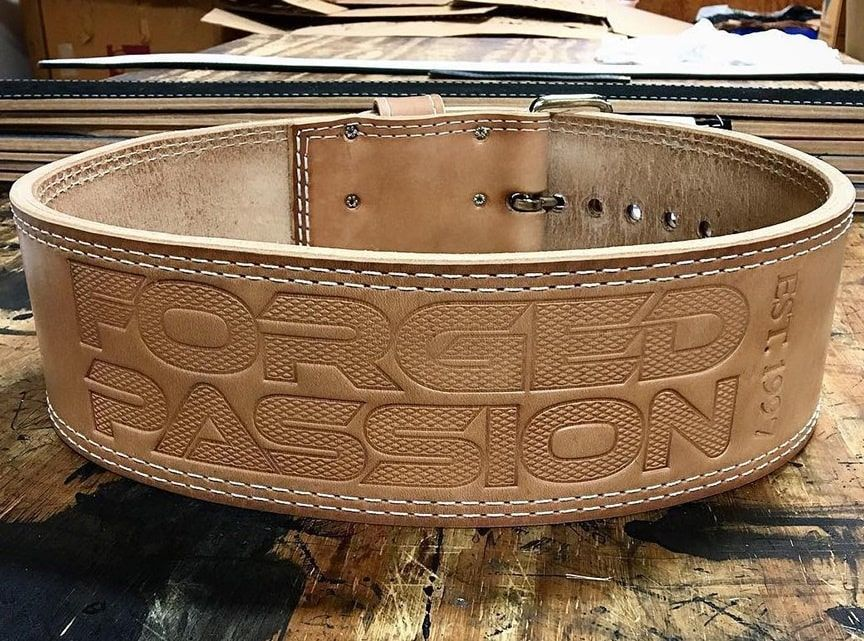 Forged Passion Leather Power Belt for Barbell Squats