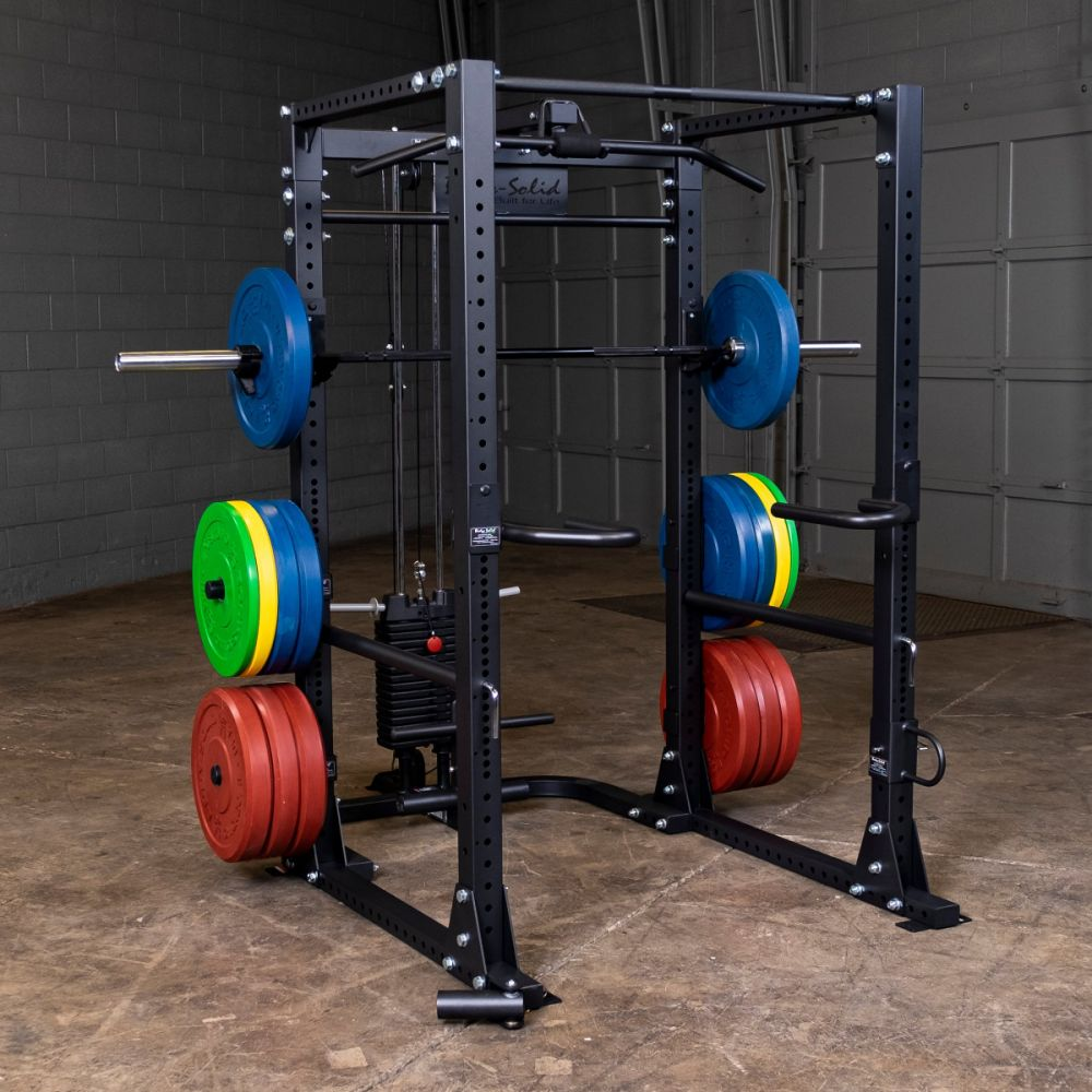 Commercial power cage and power rack for weightlifting