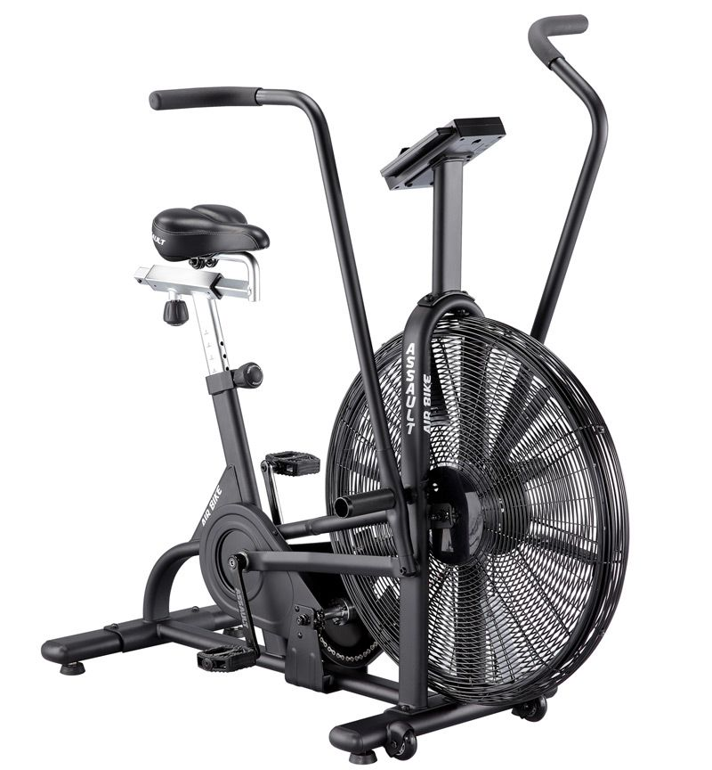 Assault fan bike for quad limb cardio training.