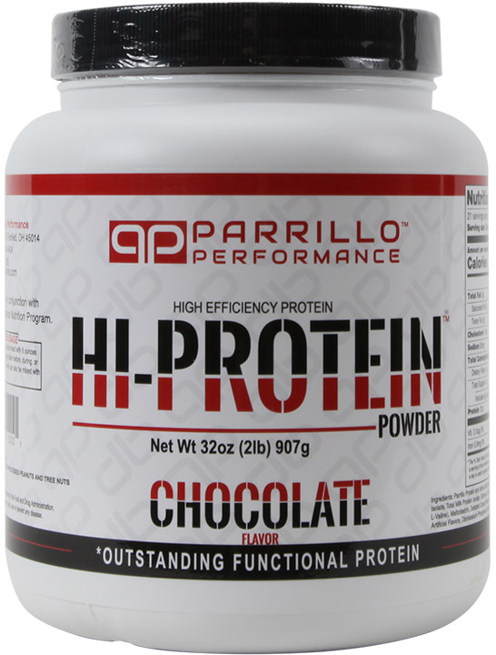 Parrillo Hi-Protein Chocolate Shake for maximum muscle and strength gains