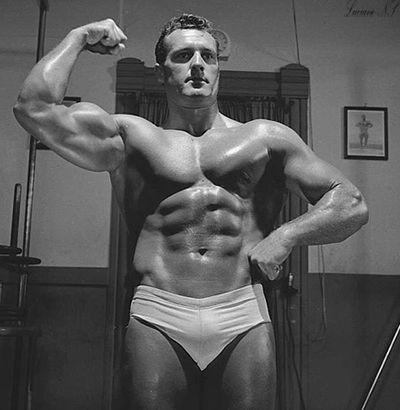 Bodybuilder Clancy Ross in 1955