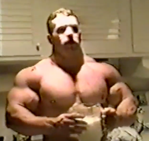 Kirk Karwoski one of the most muscular powerlifters in the world.