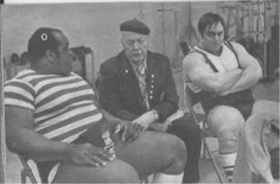Powerlifters Jim Williams, Bob Hoffman and John Kuc RAW with Marty Gallagher article