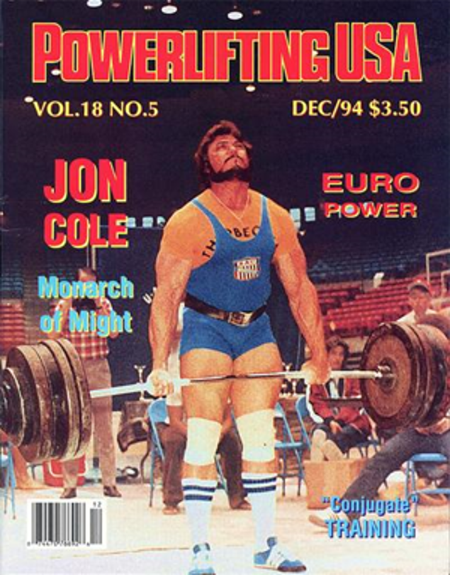Jon Cole Powerlifting USA cover December 1994