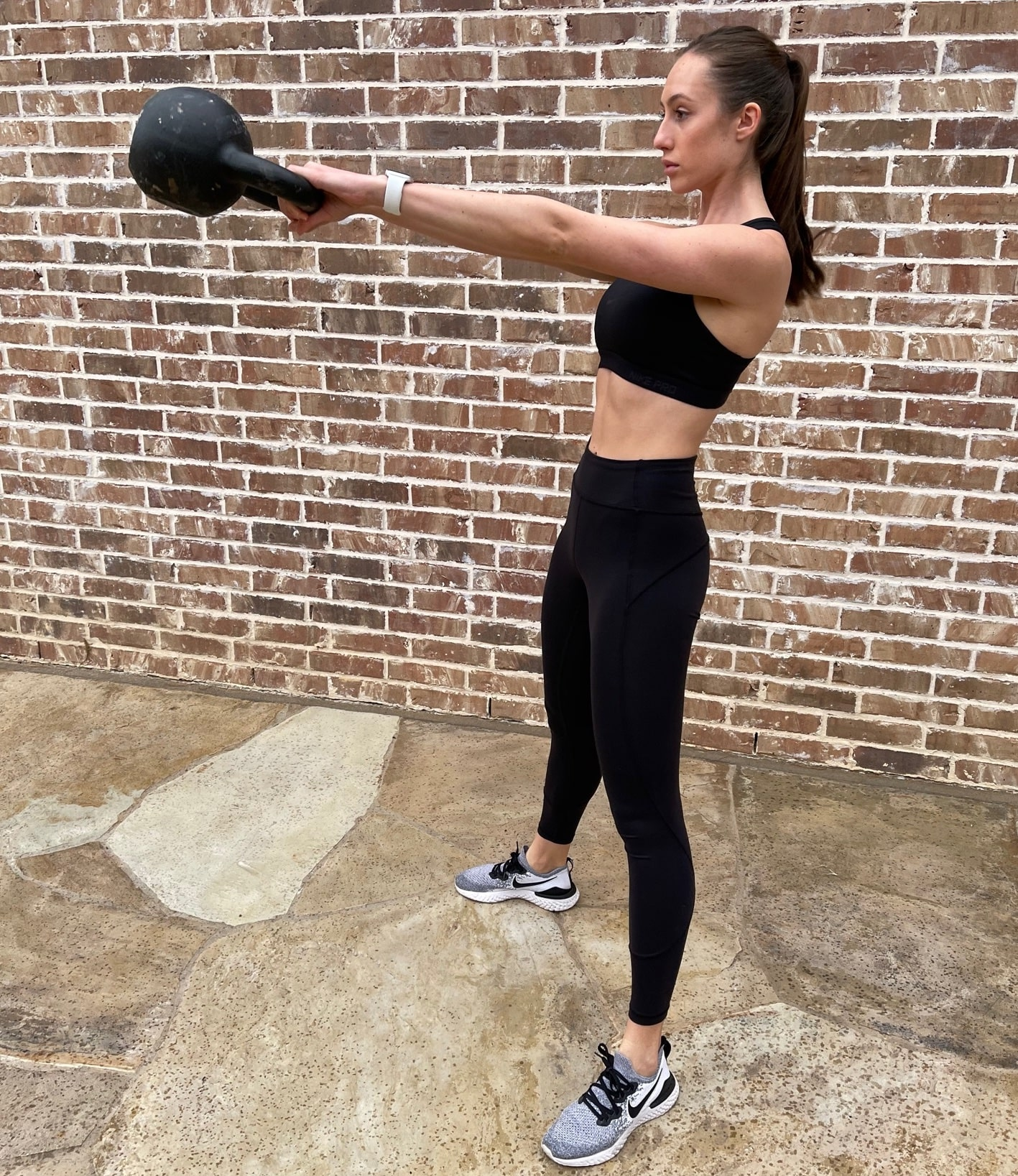 Keri Brice how to do a kettlebell swing techniques to build muscle
