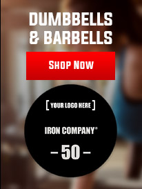 IRON COMPANY urethane dumbbells and barbells